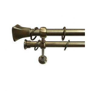 """Карниз """"Альба"""", двойной, античное золото, Ф 19/19 мм"""