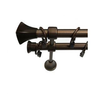 """Карниз """"Альба"""", двойной, бронза, Ф 19/19 мм, Германия"""