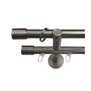 """Карниз """"Цилиндр"""", двойной, эффект стали, Ф 20/20 мм, Германия"""
