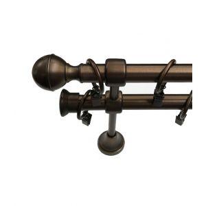 """Карниз """"Гео"""", двойной, бронза, Ф 19/19 мм, Германия"""