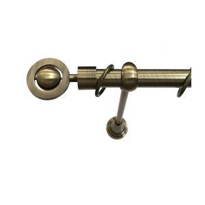 """Карниз """"Кольцо"""", одинарный, античное золото, Ф 19 мм"""