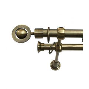 """Карниз """"Кольцо"""", двойной, античное золото, Ф 19/19 мм"""