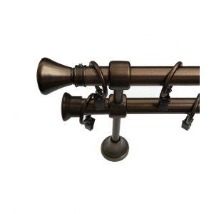 """Карниз """"Лаго"""", двойной, бронза, Ф 19/19 мм, Германия"""