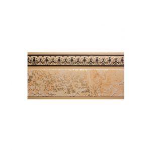 """Багетная планка для потолочной шины, 5 см, цвет: мокко с золотом """"Дамаск"""", Россия"""