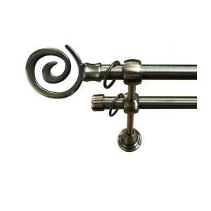 """Карниз """"Виола"""", двойной, античное золото, Ф 16/16 мм"""