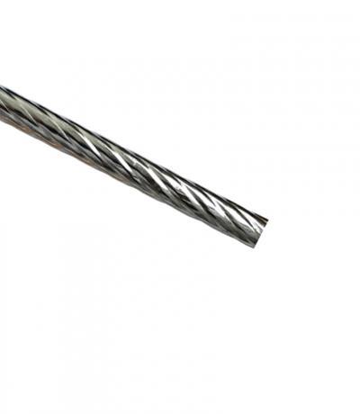 Штанга Ф16 мм, хром блеск, 1,4 м, витая, металл