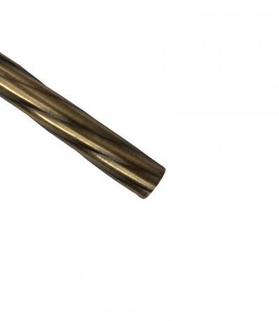 Штанга Ф25 мм, цвет античное золото, 2,0 м, витая, металл