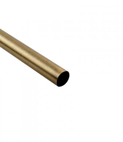 Штанга Ф25 мм, цвет античное золото, 2,4 м, гладкая, металл