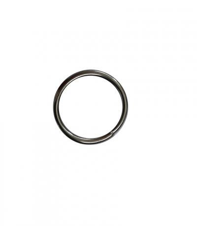 Кольцо гладкое Ф 16 мм, цвет хром блеск, 10 шт., металл