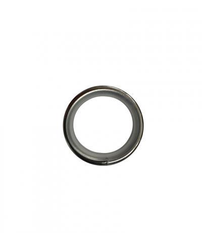 Кольцо бесшумное Ф 16 мм, цвет хром блеск, 10 шт., металл