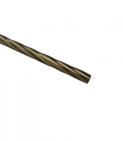 Штанга Ф16 мм, античное золото, 1,6 м, витая, металл