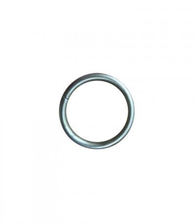 Кольцо гладкое Ф 16 мм, цвет матовый хром, 10 шт., металл