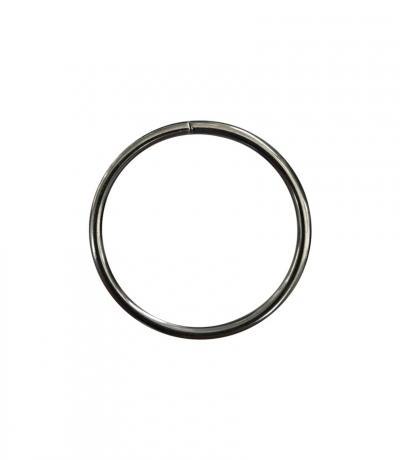 Кольца Ф 25мм, цвет хром, 10 шт., металл